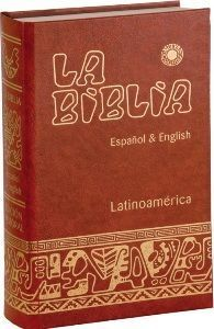 BIBLIA LATINOAMERICANA CARTONE BILINGUE ESPAÑOL INGLES