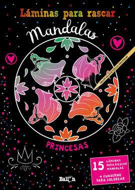 LÁMINAS PARA RASCAR MANDALAS - PRINCESAS