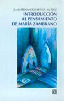 INTRODUCCIÓN PENSAMIENTO MARÍA ZAMBRANO