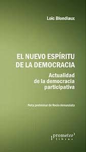 NUEVO ESPIRITU DE LA DEMOCRACIA ACTURALIDAD DE LA DEMOCRACIA